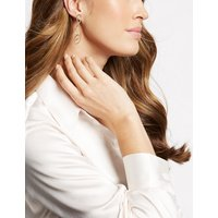 M S Collection Double Pearl Swirl Drop Earrings