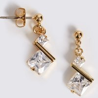 M&S Collection Angle Stone Drop Earrings