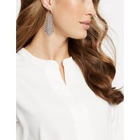 M S Collection Crystal Drop Earrings