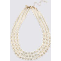 M S Collection Triple Row Necklace