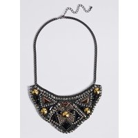 M S Collection Encrusted Bib Necklace