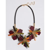 MandS Collection Abstract Flower Collar Necklace