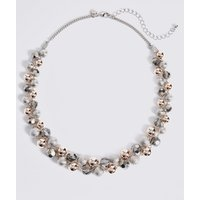 M S Collection Twisted Glass Necklace