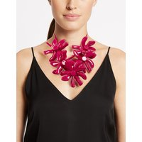 M&S Collection Abstract Flower Collar Necklace