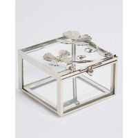 M S Collection Flutter Metal Diamant   Butterfly Jewellery Box