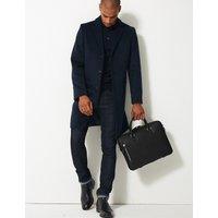 M&S Collection Textured Saffiano Slim Briefcase
