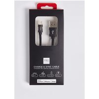 M&S Collection Lightning To USB Charging Cable