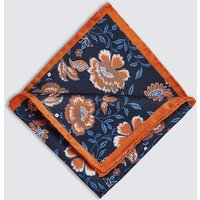M&S Collection Pure Silk Floral Print Pocket Square