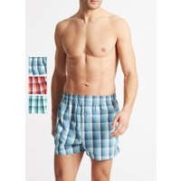 M&S Collection 3 Pack Pure Cotton Checked Boxers