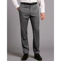 Autograph Big & Tall Grey Tailored Fit Wool Trousers