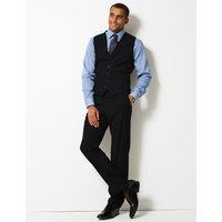 M&S Collection Navy Regular Fit Waistcoat