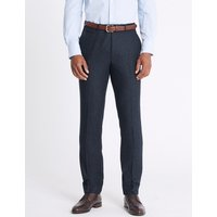 M&S Collection Wool Blend Slim Fit Trousers with Italian Fabric
