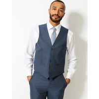 M&S Collection Indigo Slim Fit Waistcoat