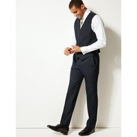 M&S Collection Navy Tailored Fit Waistcoat