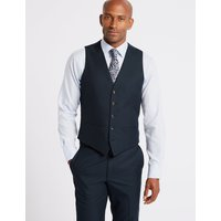 M&S Collection Navy Slim Fit Waistcoat