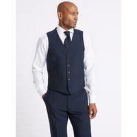 M&S Collection Indigo Tailored Fit Waistcoat