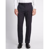 M&S Collection Blue Slim Fit Trousers