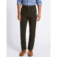 M&S Collection Pure Cotton Regular Fit Moleskin Trousers