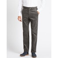 M&S Collection Regular Fit Pure Cotton Corduroy Trousers