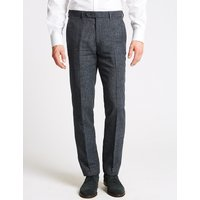 M&S Collection Linen Miracle Slim Fit Trousers
