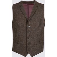 M&S Collection Pure Cotton Barleycorn Waistcoat