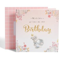 Dan's Mouse Butterfly & Flowers Birthday Card