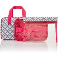 Victoria Green Grace Smoke Geometric Folding Beauty Bag