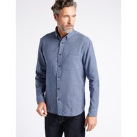 Blue Harbour Luxury Brushed Cotton Checked Shirt