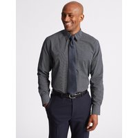 Made in the UK Pure Cotton Regular Fit Luxury Shirt