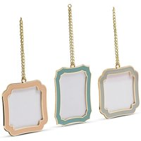 Set of 3 Enamel Photo Frame
