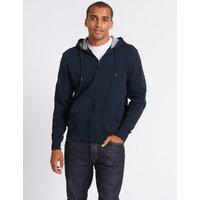 MandS Collection Big and Tall Pure Cotton Hooded Top