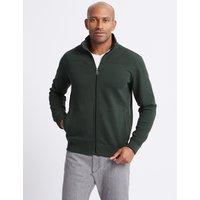 M&S Collection Cotton Funnel Neck Regular Fit Jacket