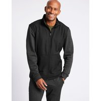 M&S Collection Textured Funnel Neck Regular Fit Jacket