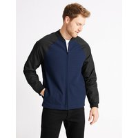 M&S Collection Cotton Baseball Jacket Regular Fit
