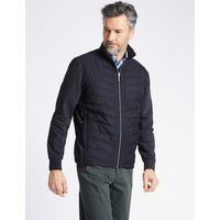 Blue Harbour Cotton Rich Quilted Zip Through