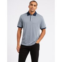 M&S Collection Modal Rich Textured Polo Shirt