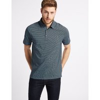 M&S Collection Regular Fit Pure Cotton Polo Shirt