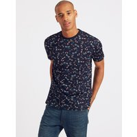 Limited Edition Slim Fit Pure Cotton Printed Crew Neck T-Shirt