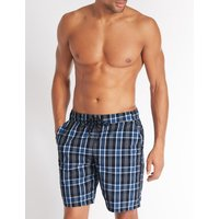 M&S Collection Checked Quick Dry Swim Shorts
