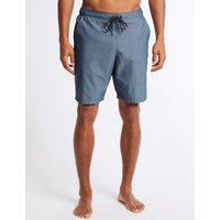 M&S Collection Quick Dry Cotton Rich Checked Swim Shorts