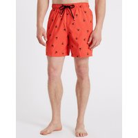 M&S Collection Palm Tree Embroidered Quick Dry Swim Shorts