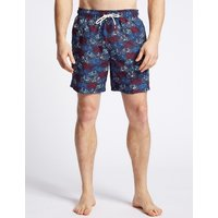 M&S Collection Bike Printed Quick Dry Swim Shorts