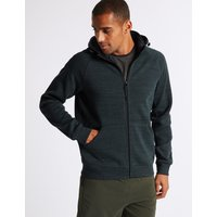M&S Collection Active Cotton Rich Zip Through Hoody