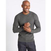 M&S Collection Cotton Blend Textured Jumper