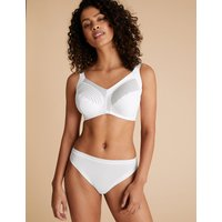 M&S Collection Total Support Striped Non-Wired Full Cup Bra B-G