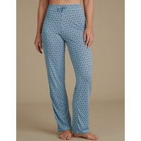 M&S Collection Feather Print Pyjama Bottoms