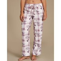 M&S Collection Cotton Blend Floral Print Pyjama Bottoms