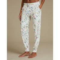 M&S Collection Floral Print Cuffed Hem Pyjama Bottoms