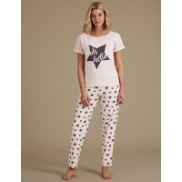 M&S Collection Star Print Short Sleeve Pyjama Set