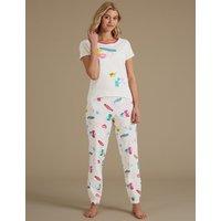 M&S Collection Printed Short Sleeve Pyjama Set
